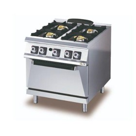 D74/10 CGG – 4 Burner Gas Range with Gas Static Oven