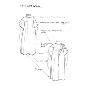 Patient Gowns | Three Arm Gown