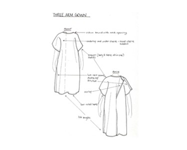 Patient Gowns - Three Arm Gown