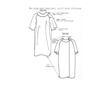 Patient Gowns - B41 X-Ray Gown