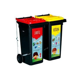 Step-On Wheelie Recycling Bins