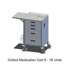 Oxford Unit Medication Carts - OX55 9-18, 12-24, 15-30, 20-40 Unit
