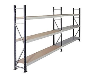 Longspan Shelving with Steel or Particleboard Shelves