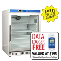Vaccine Fridge 135LT With Glass Door | FREE DATA LOGGER | NULHR200G
