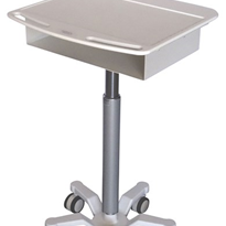 Easily move your IT & clinical rounds items in tight spaces