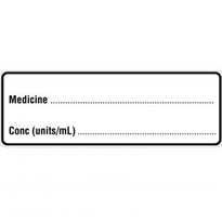 Injectable Medicine Labels  Medicine (Removeable)