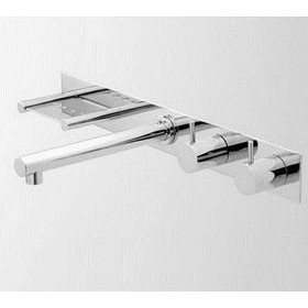 Wall Set with Bar Spout & Soap Holder on Back Plate | Geo Viva