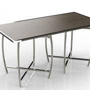 Mobile Buffet Table | Cross Cube Set Top | Rectangle with Curved Leg