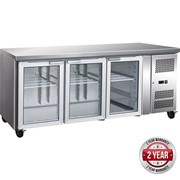 F.E.D Thermaster Gastronorm 3 Glass Door Bench Fridge