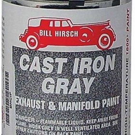 Bill Hirsch Cast Iron Gray High Temp Paint | BHCIGAERO