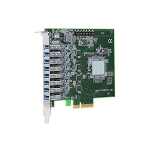 PCIe-USB381F 8-Port USB 3.1 Gen1 Frame Grabber Expansion Card with 4x
