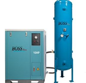 BOSS - 48CFM / 10HP 3 Phase Silent Air Compressor - BQT50P-300L