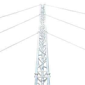 Aluminium Guyed Lattice Tower | AL500 Ground Mounted