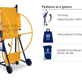 Niftylift manual wheelie bin lifter | Electrodrive