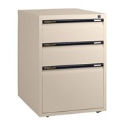 Mobile Pedestal – Two Personal Drawers + 1 File Drawer