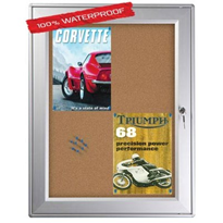 100% Waterproof Enclosed Notice Board Display Case