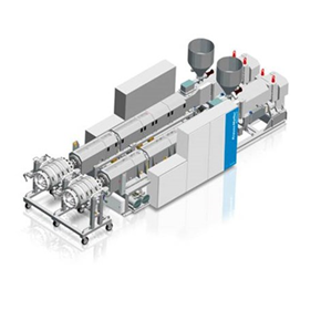 Twin-Screw Extruder for PVC Pipes | Krauss Maffei