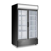 Double Glass Door Mounted Refrigerator
