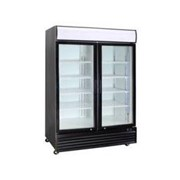 Black Or White 2 Glass Door Refrigerator | CCE1130 Black