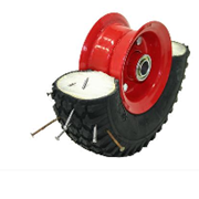 FOAM FILLED PUNCTURE-FREE WHEELS WITH STEEL 2 PIECE SPLIT RIM
