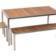 Outdoor Table & Bench | Carlie