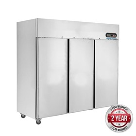 Three Door SS Upright Display Freezer - SUF1500