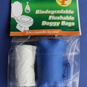 Biodegradable Dog Poo Waste Bags, Flushable with Bone Shaped Dispenser