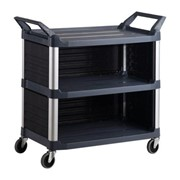 Housekeeping Cart | 3-Shelf with Sides & Back