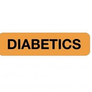 Professional Chart Identification Labels Diabetics