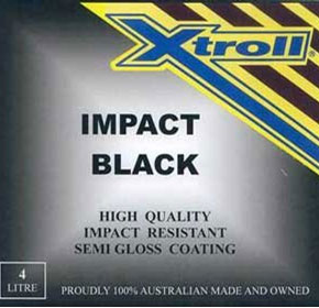 Fast Drying Enamel Pain Coating | Xtroll Impact Black