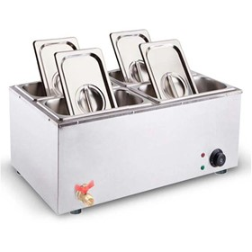 Stainless Steel Electric Bain-Marie Food Warmer 4*4.5L