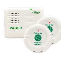 Pager and Two Call Buttons Kit for the Elderly