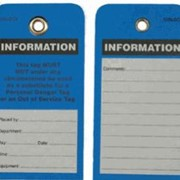 Information Tags - Pack of 5