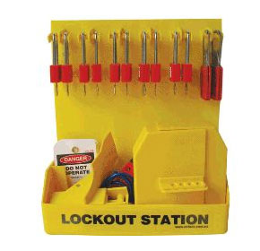 Lockout Station - Medium with Valve Lockouts - LST-4