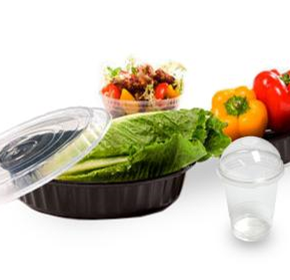 Round Plastic Takaway Food Containers