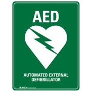 AED Dbl Sided Sign Poly | 873488
