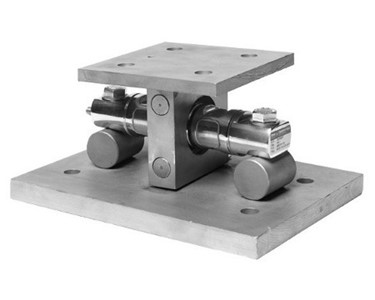 Double-ended beam load cell with tank mount set