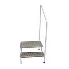 Two Step Stool with Handrail