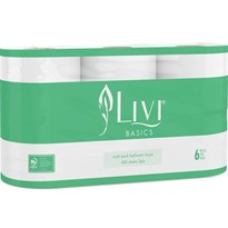 2ply 400 Sheet Multi-pack Toilet Tissue | Livi® Basics
