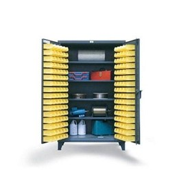 4 Shelf Bin Storage Cabinet