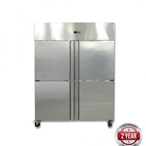 FED Grand Ultra Four 2/1 S/S door upright Freezer 1200L - GN1200BTM