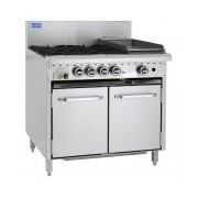 4 Burners, 300 Char & Oven | LUUS RS-4B3C