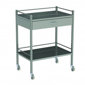 Instrument Trolley One Drawer Model AX 057