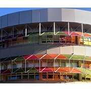 Colourful Sunshades for University Campus
