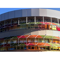Colourful Sunshades for University Campus -PERSPEX Frost