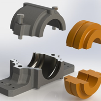 Plastic split plummer blocks save time and maintenance costs