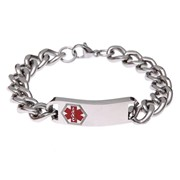 Medical Alert Bracelets | Stainless Steel Classic Red Bracelet
