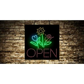 Animated Open Florist LED Sign