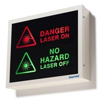 Low Profile Fluorescent Illuminated Warning Lights Signs