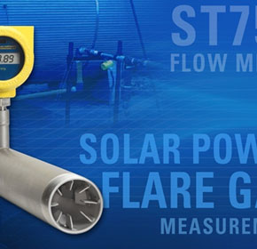 Solar Powered Thermal Mass Flow Meter | FCI ST75V